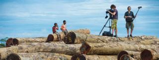 Papouasie Nouvelle Guinée Fixeur Papou caméra tournage